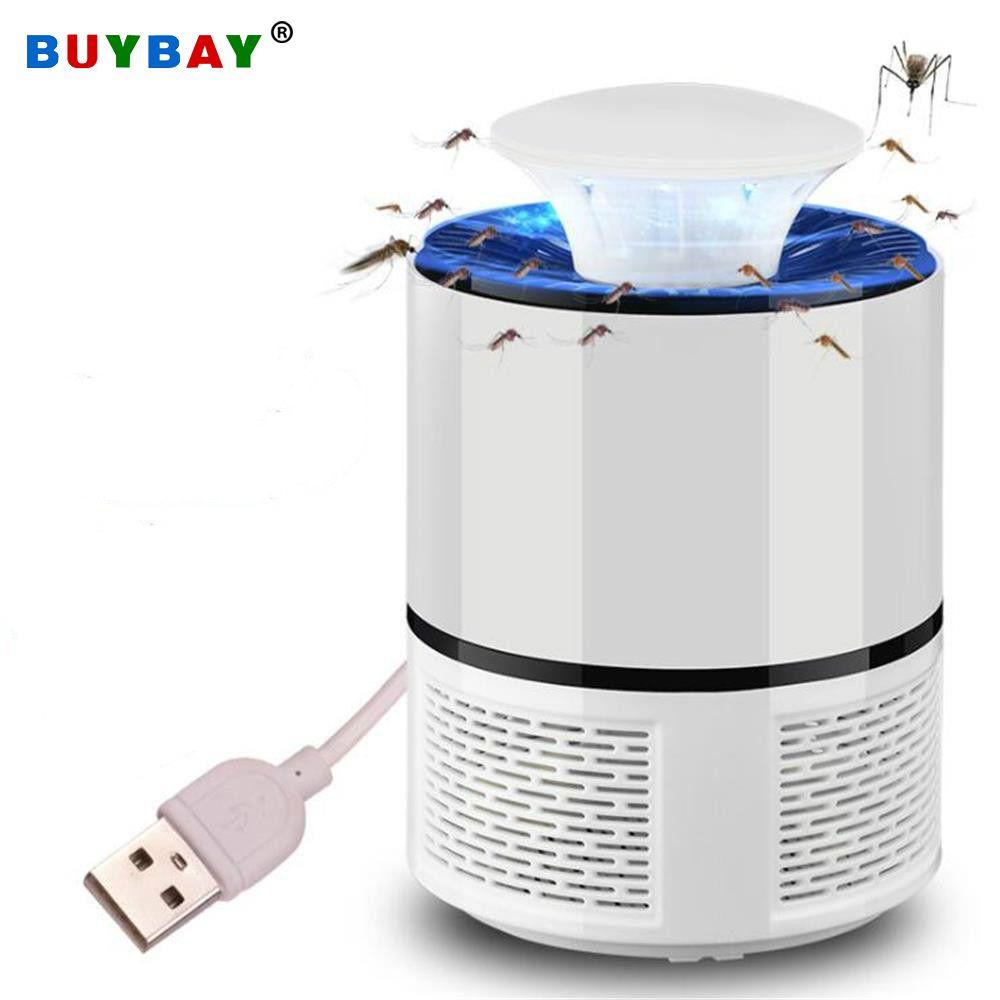 USB électrique tueur de moustiques lampe LED lumière de nuit UV Anti mouche moustique Zapper tueur piège à insectes