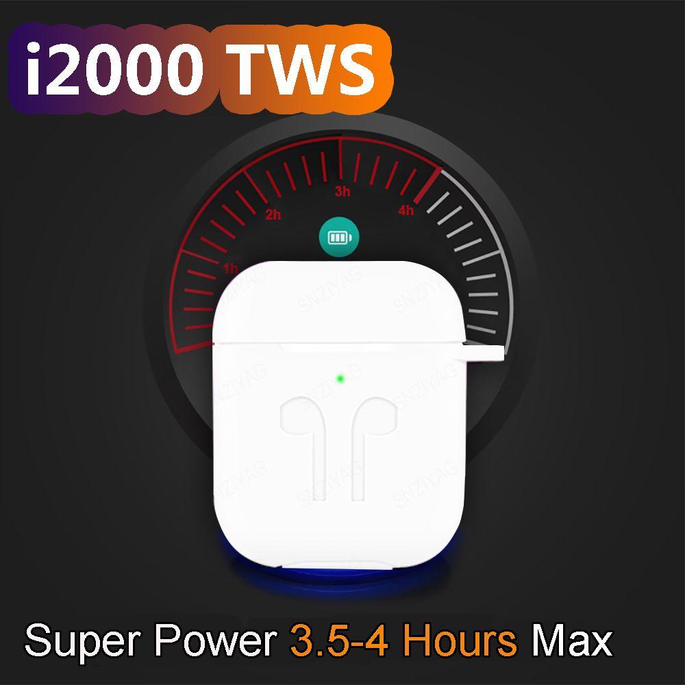 i2000 TWS In-ear Smart Sensor Wireless Earphone 8D Super Sound Earbuds Pop up Bluetooth 5.0 Earphones Pk i100 i200 i800 TWS