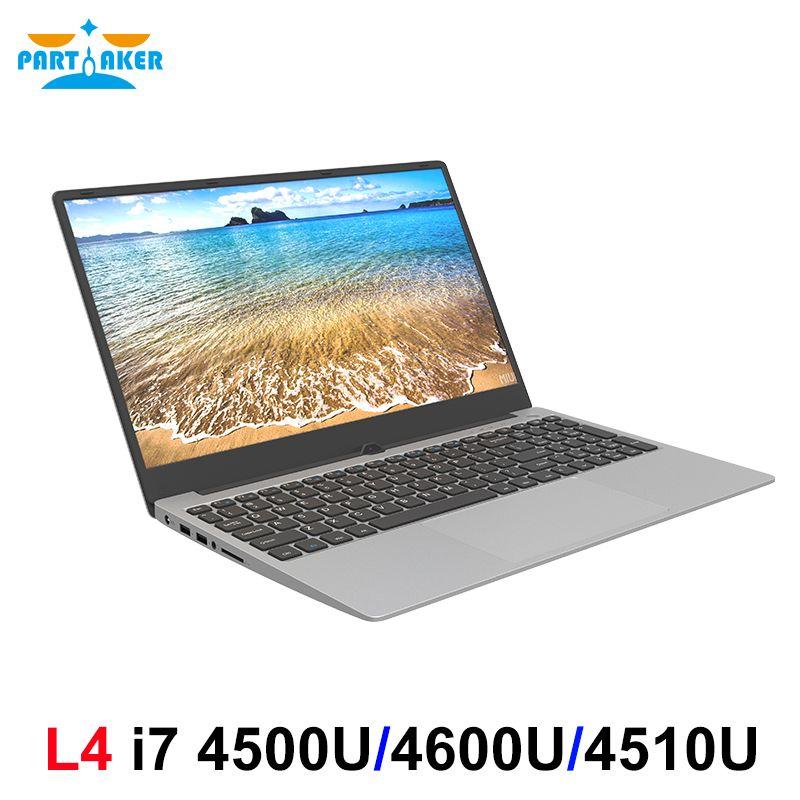 L4 Metall Shell 15,6 Zoll Intel i7 4500U Laptop 8 GB/16 GB RAM 1080P IPS Notebook Windows 10 dual Band WiFi Volle Layout Tastatur