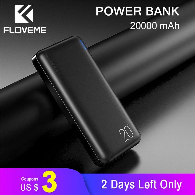 FLOVEME 20000mAh batterie externe Powerbank pour Xiao mi batterie externe chargeur Portable Double USB mi batterie pauvre batterie externe Movil