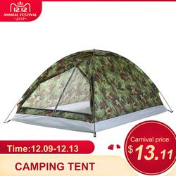 1.2KG TOMSHOO 2 Person Tent Ultralight Single Layer Water Resistance Camping Tent PU1000mm with Carry Bag for Hiking Traveling