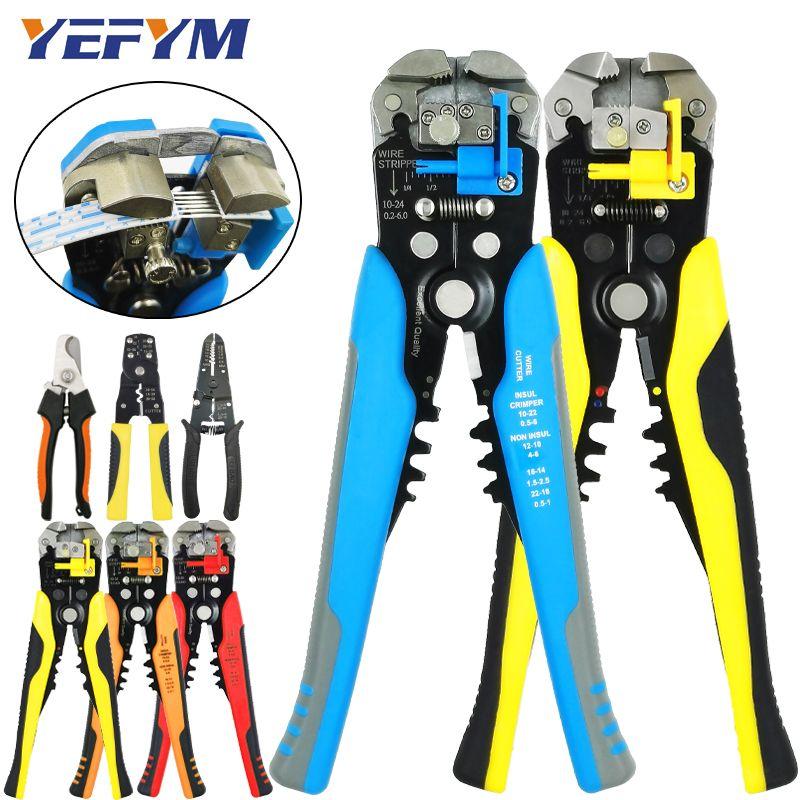 Multi-outils pinces décapant coupe câble fil capacité 0.25-6mm2 HS-D1 YE-1 marque sertisseur acutomatique outils de réparation électrique