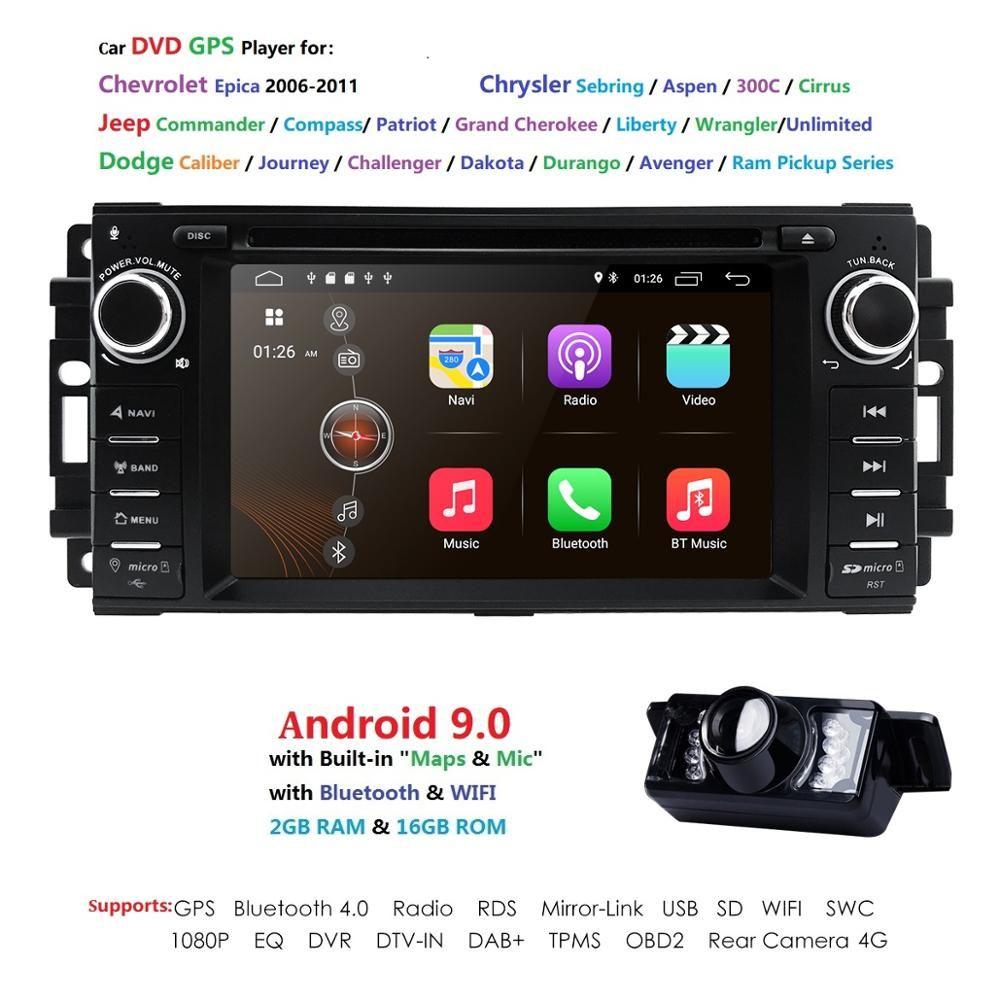 Auto Monitor DVD Player Für Wrangler Compass Grand Cherokee 2008-2011 Mit GPS Navigation Multimedia radio lenkrad BT DVR
