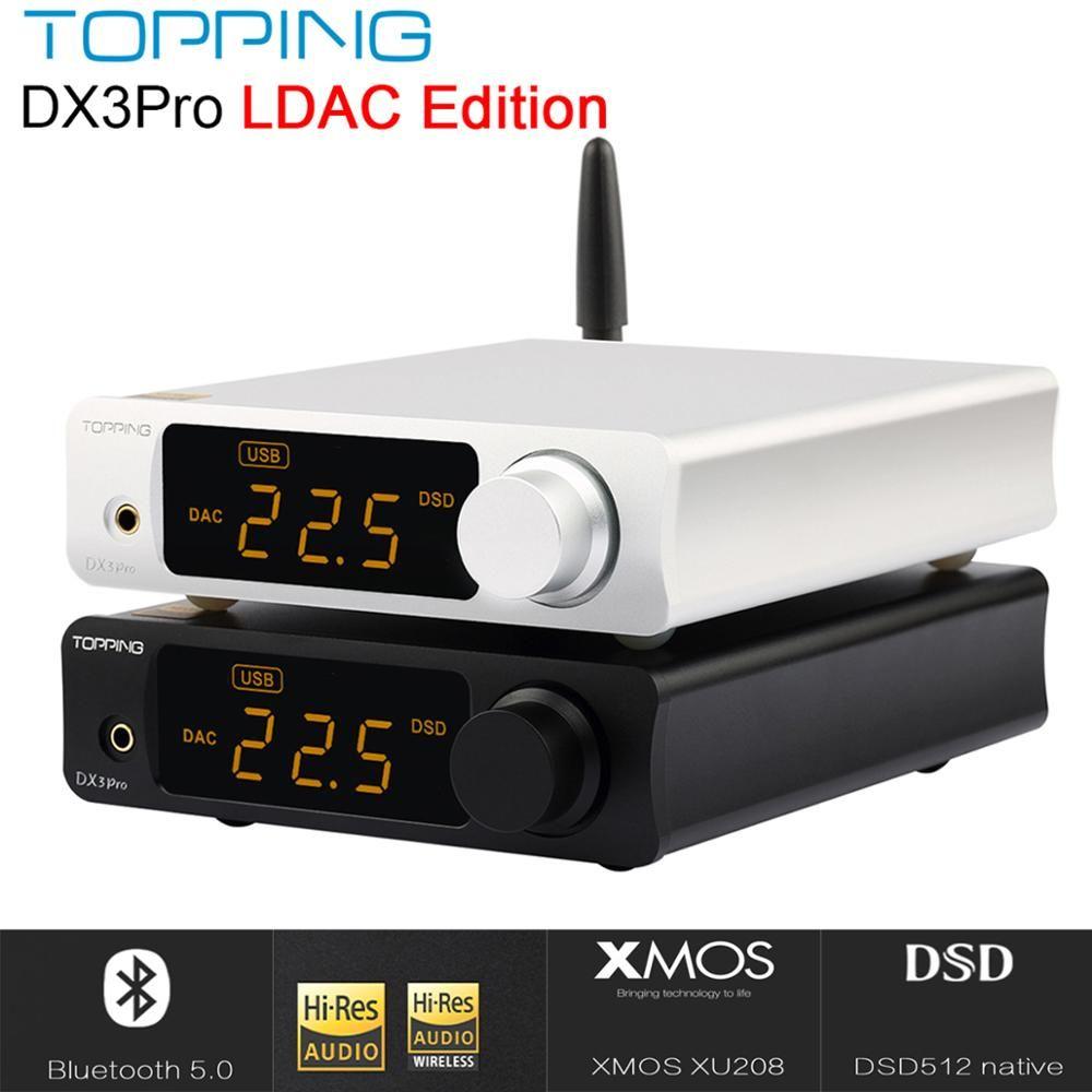 RICHT DX3 PRO LDAC Edition Bluetooth dekodierung amp AK4493 USB DAC XMOS XU208 DSD512 fest lösung Kopfhörer ausgang TPA6120A2