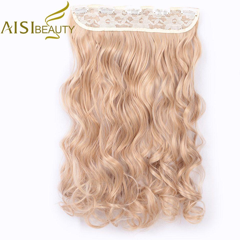 AISI beauté synthétique ondulé Extensions de cheveux 24