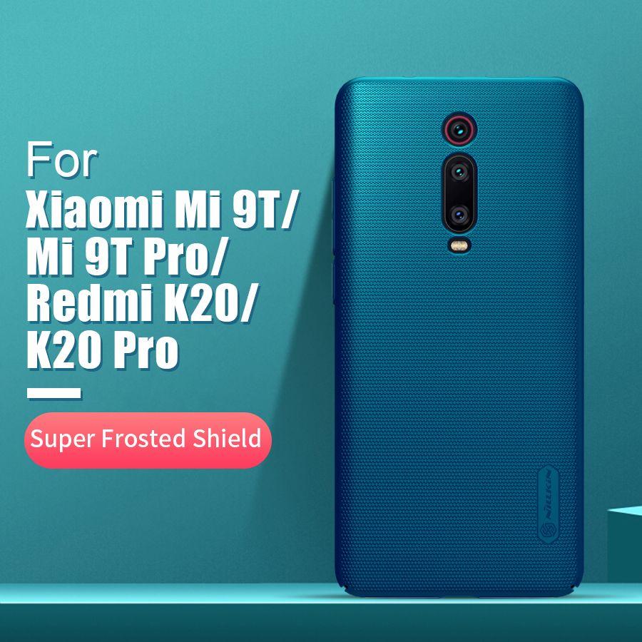 Pour xiaomi redmi k20 pro housse de protection 6.39 NILLKIN givré PC mat couverture arrière support pour téléphone redmi K20 pour xiaomi mi 9T 9T Pro étui
