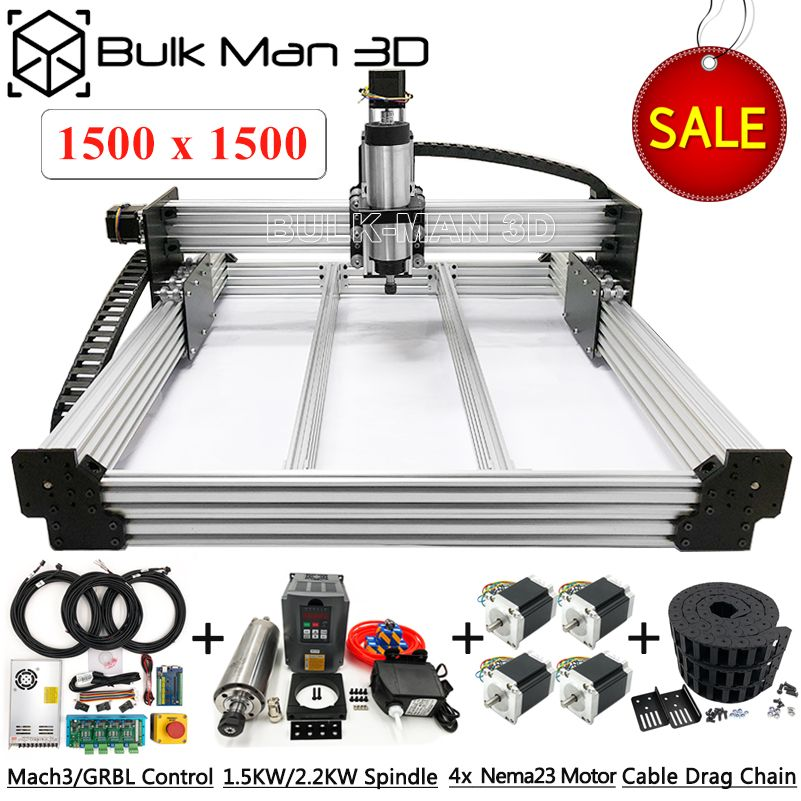 1515 WorkBee CNC Router 4 Achsen CNC Fräsen Maschine Full Kit PCB Holz Kunststoff Metall Gravur Carving Maschine mit kleine budget