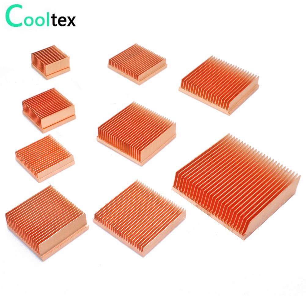 Pure Copper Heatsink DIY Heat Sink Radiator Cooling Cooler for Raspberry pi Electronic 3D printer CHIP IC MOS Heat dissipation