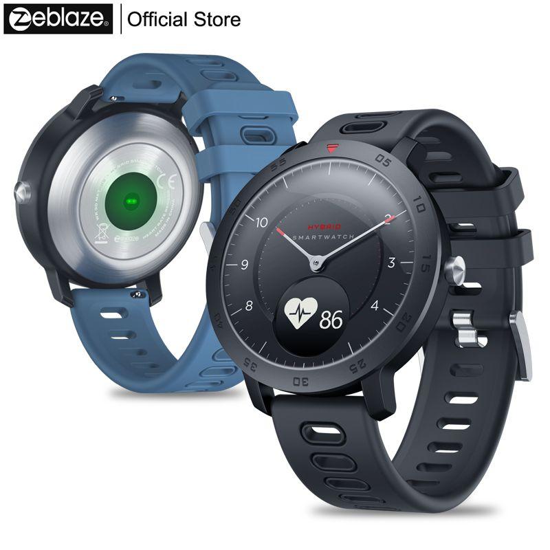 Nouveau Zeblaze hybride Smartwatch fréquence cardiaque tensiomètre montre intelligente exercice de suivi suivi du sommeil Notifications intelligentes