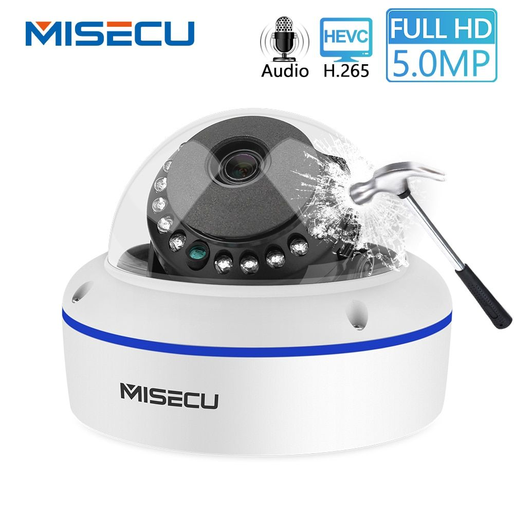 MISECU Super HD 5MP 4MP 2MP Überwachung IP POE Kamera 1080P Audio Mikrofon Dome Indoor Sicherheit Kamera E-mail Push ONVIF P2P