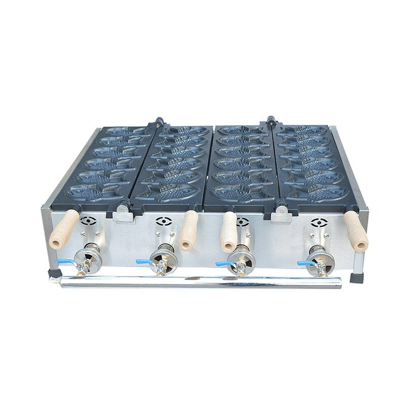 Kostenloser versand Elektrische 110v 220v Fisch Waffel Maker Taiyaki maschine 6 stücke und 12 fisch waffel