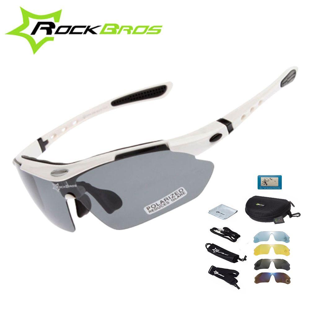 Chaud! RockBros lunettes de cyclisme polarisées lunettes de soleil cyclisme plein air Sport vélo de route vtt lunettes hommes TR90 lunettes lunettes 5 lentilles