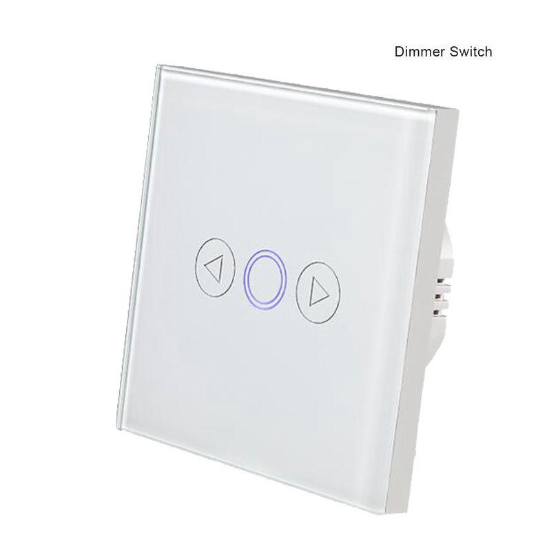 Mokaseumg accueil mur gradateur interrupteur EU panneau de verre tactile capteur d'éclairage interrupteur LED ampoule tactile gradateur commutateur AC 170 V-240 V