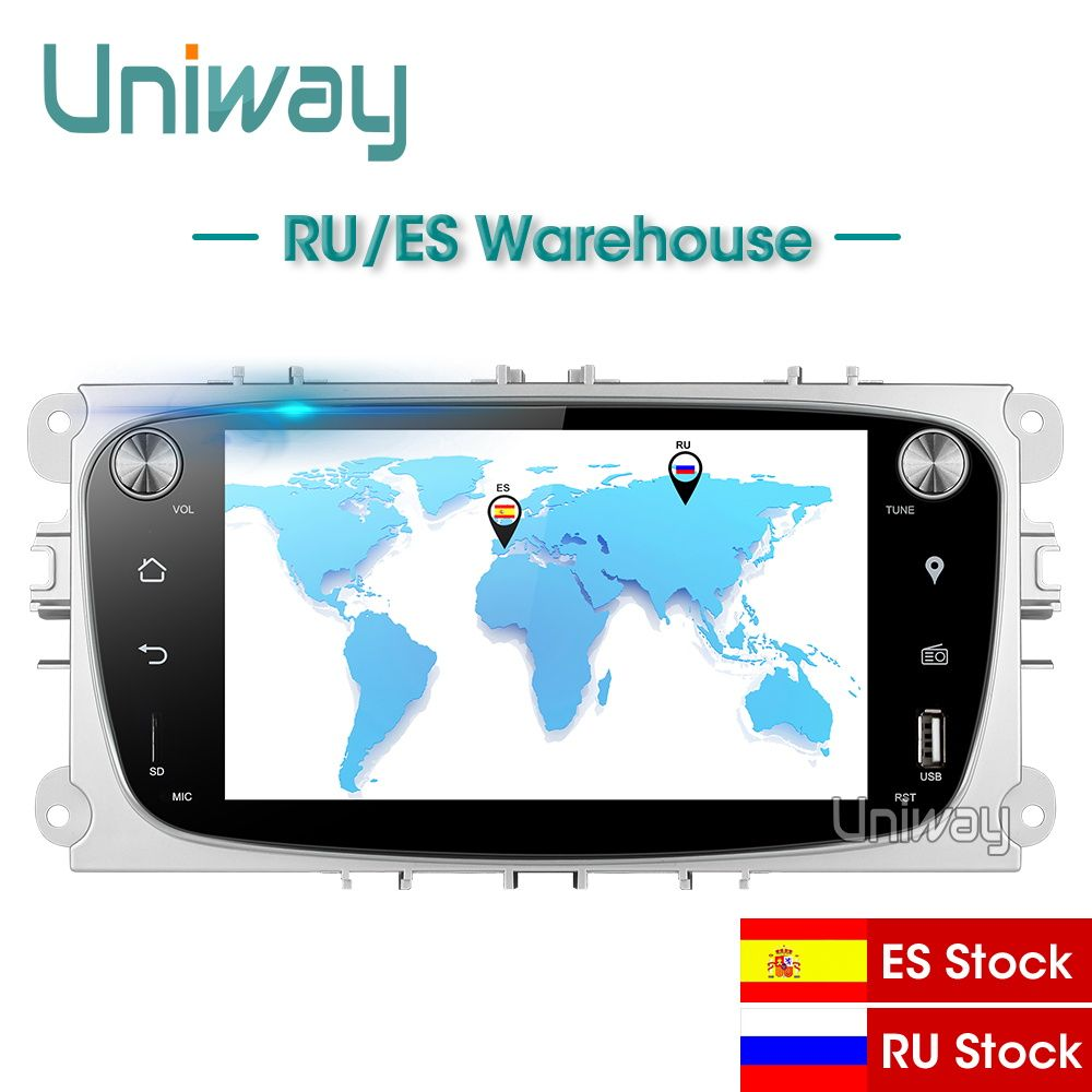 Uniway ALFKS7071 2G + 32G android 8.1 auto dvd für focus ford mondeo ford kuga ford S-MAX C- MAXcar radio