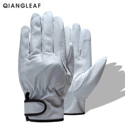 QIANGLEAF Brand Free Shipping Hot Sale Protection Glove D Grade Ultrathin Leather Safety Work Gloves Wholesale 527
