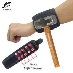 Поддержка запястья Сильный магнитный для браслет винтового ноготь Держатель Браслет ремешок инструмент сумка для инструмента сумка шуруп...