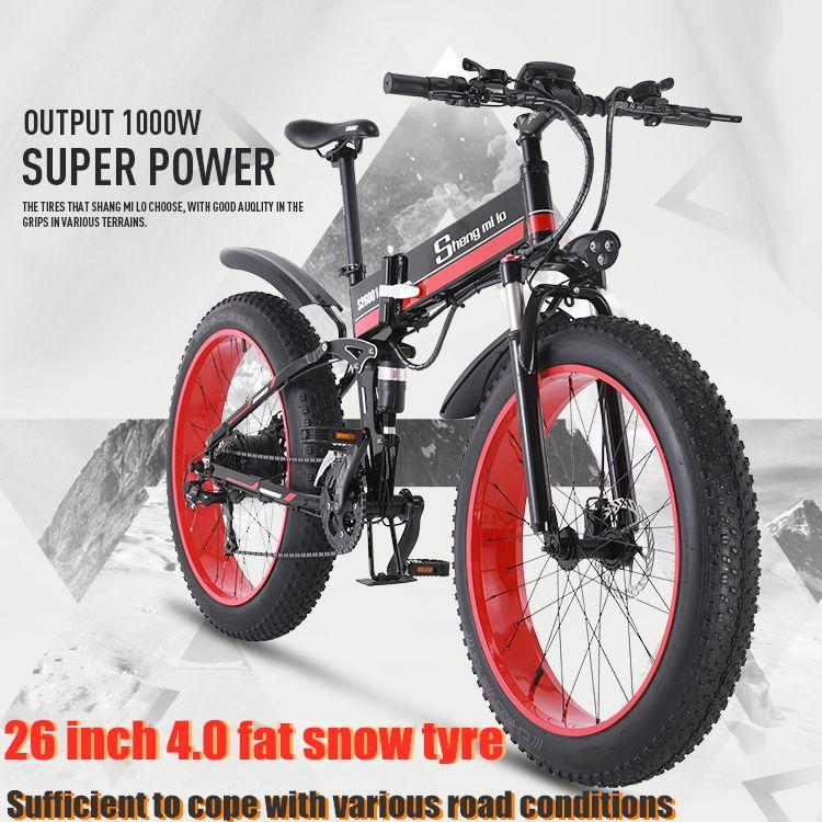 Elektrische fahrrad bike 26 zoll 4.0Fat reifen klapp erwachsenen lithium-batterie 48v elektrische fahrrad ebike berg motorrad schnee e -bike