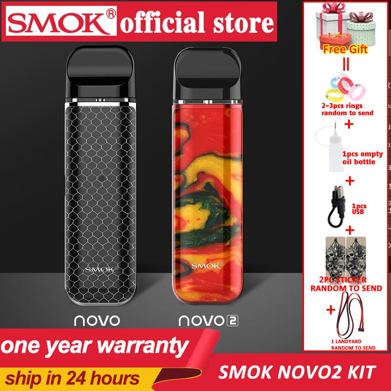 SMOK pod starter kit SMOK novo novo 2 kit cobra covered vape pen kit with 450mAh built-in battery 2ml capacity pod system kit