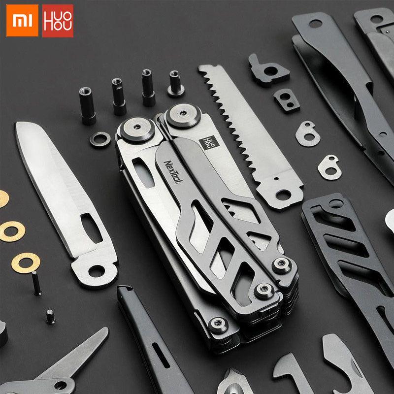 Xiaomi huohou multi-fonction couteau pliant décapsuleur tournevis pinces acier inoxydable armée couteaux chasse extérieur Campin