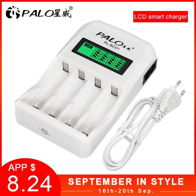 En gros PL-NC01 4 fentes LCD affichage Intelligent Intelligent chargeur de batterie pour AA/AAA NiCd NiMh Rechargeable Batteries PALO chargeur