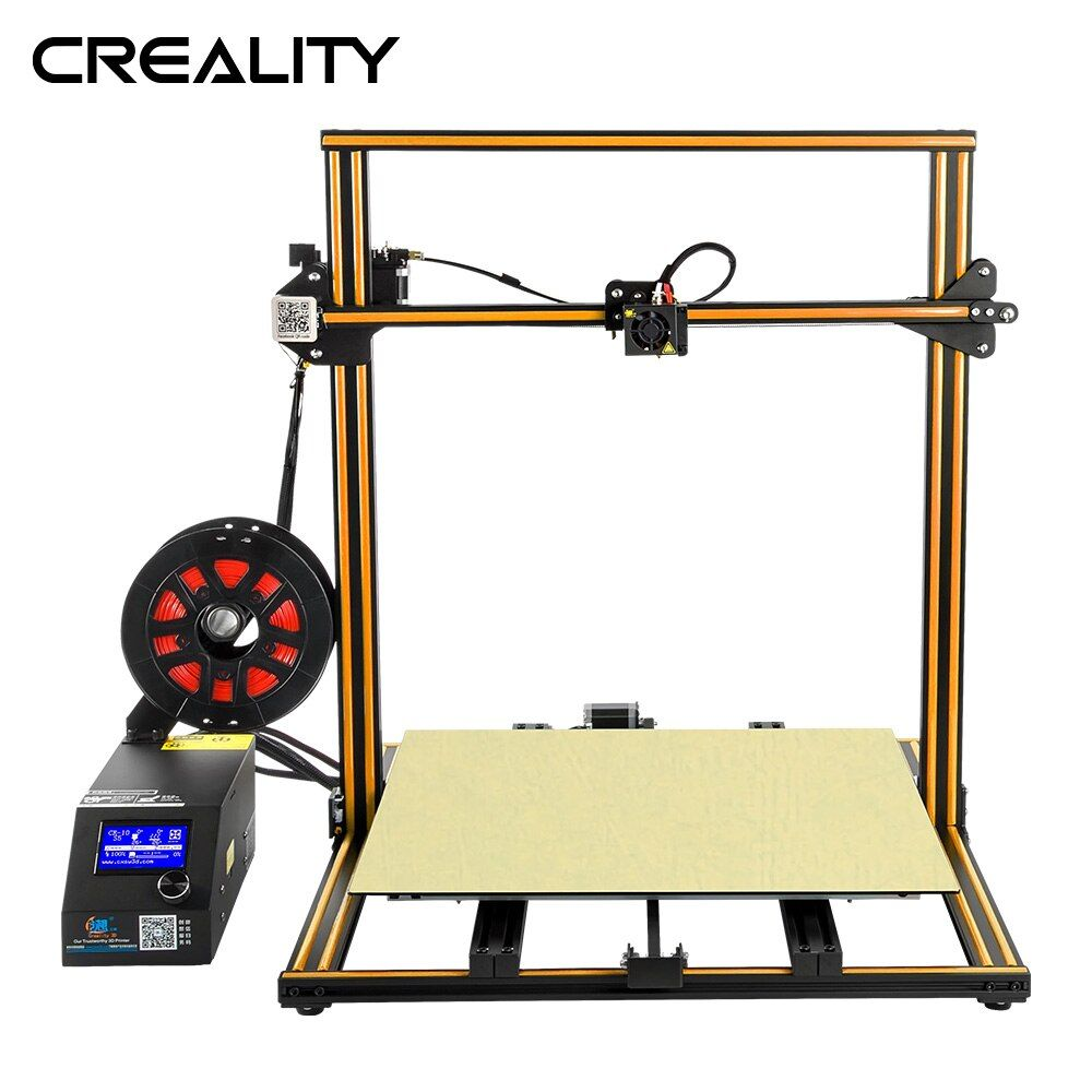 Voll Metall Plus größe Creality 3D Drucker CR-10 S4/S5 Mit Dua Z Stange Filament Sensor Erkennen Lebenslauf Power off