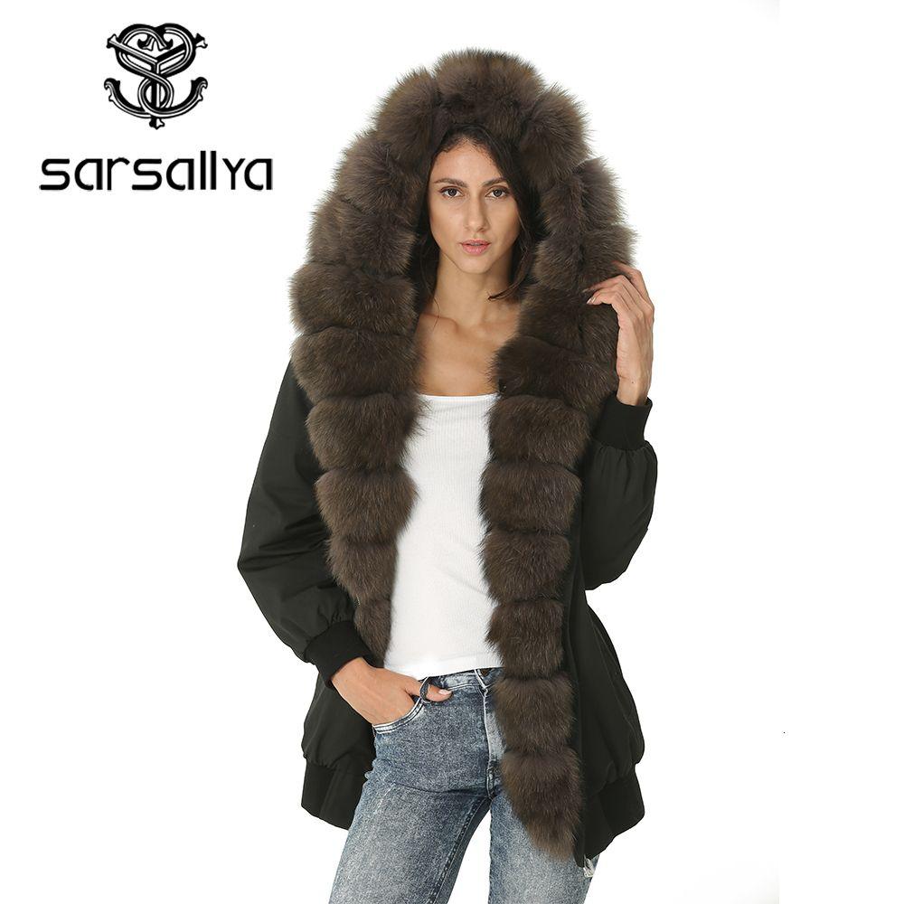 Winter Jacke Frauen Pelz Damen Mit Kapuze Parka Jacken Weiblichen Echte Pelz Mantel Frauen Warme Casual Herbst Kleidung Vintage 2019 Neue