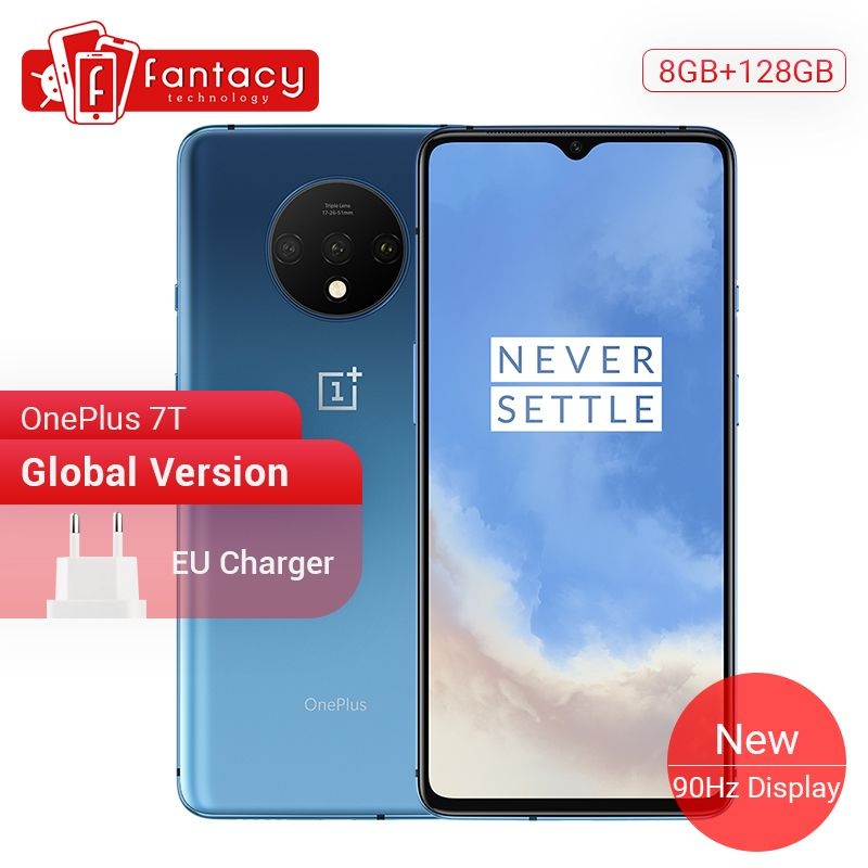 Globale Version OnePlus 7T 8GB 128GB Smartphone Snapdragon 855 Plus Octa Core 90Hz AMOLED Bildschirm 48MP triple Kameras UFS 3,0 NFC