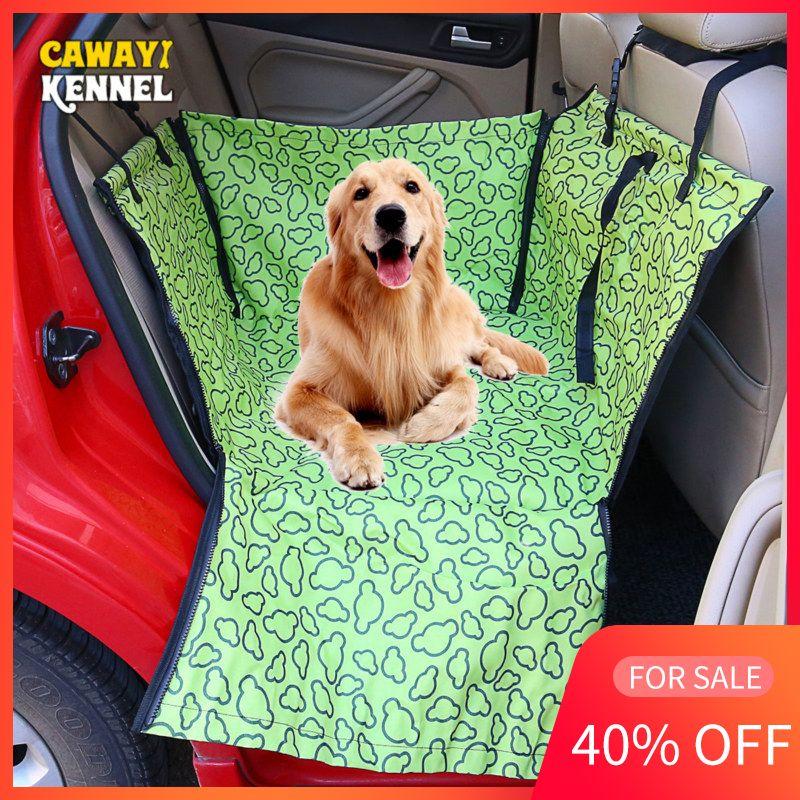 CAWAYI chenil porte-animaux chien housse de siège de voiture transportant pour chiens chats tapis couverture arrière Protection arrière hamac transportin perro