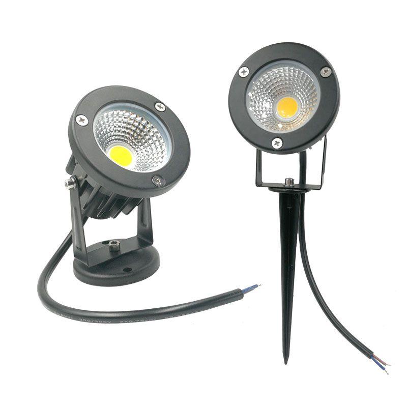 IP65 jardin lumière COB jardin pelouse lampe lumière 220V 12V étanche spot LED lumière de pointe 3W 5W 7W 9W Spike lumière paysage à LED