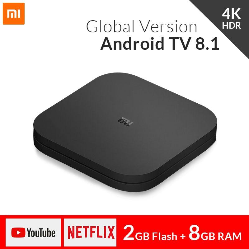 Global Xiaomi Mi TV Box S 4K HDR Android TV 8.1 Ultra HD 2G 8G WIFI Google Cast Netflix IPTV Set top Box 4 Smart Media Player