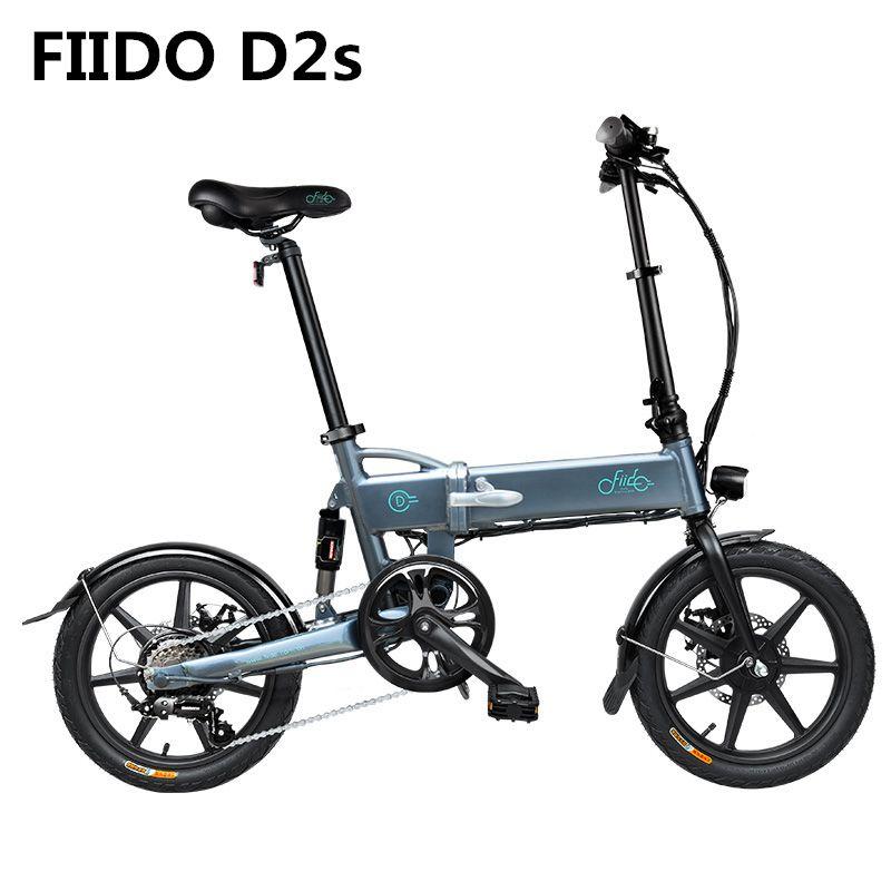 FIIDO D2s Variable Geschwindigkeit Elektrische Fahrrad 7.5Ah 36V Aluminium Legierung 16 zoll Faltbare Mechanische Scheiben Bremsen 250W Elektrische bike