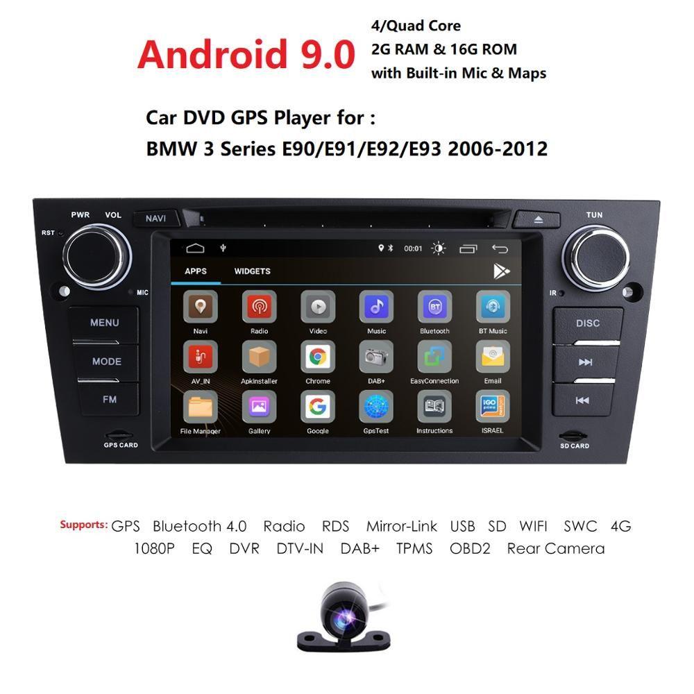 Android 9.0 Auto Multimedia player Für BMW/E90/E91/E92/E93 Serie 1 Din Radio Stereo Monitor 7 ''bildschirm DSP RDS USB TUPFEN TPMS CAM