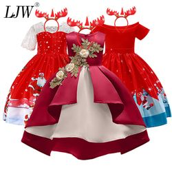 Baby Girl embroidery Silk Princess Dress for Wedding party Kids  Dresses for Toddler Girl Children Fashion Christmas Clothing