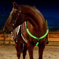 LED Horse Bridle Halter Breastplate Collar Bridle Horse Collar Lights Equestrian Safety Gear Horse Riding In Night Long Range
