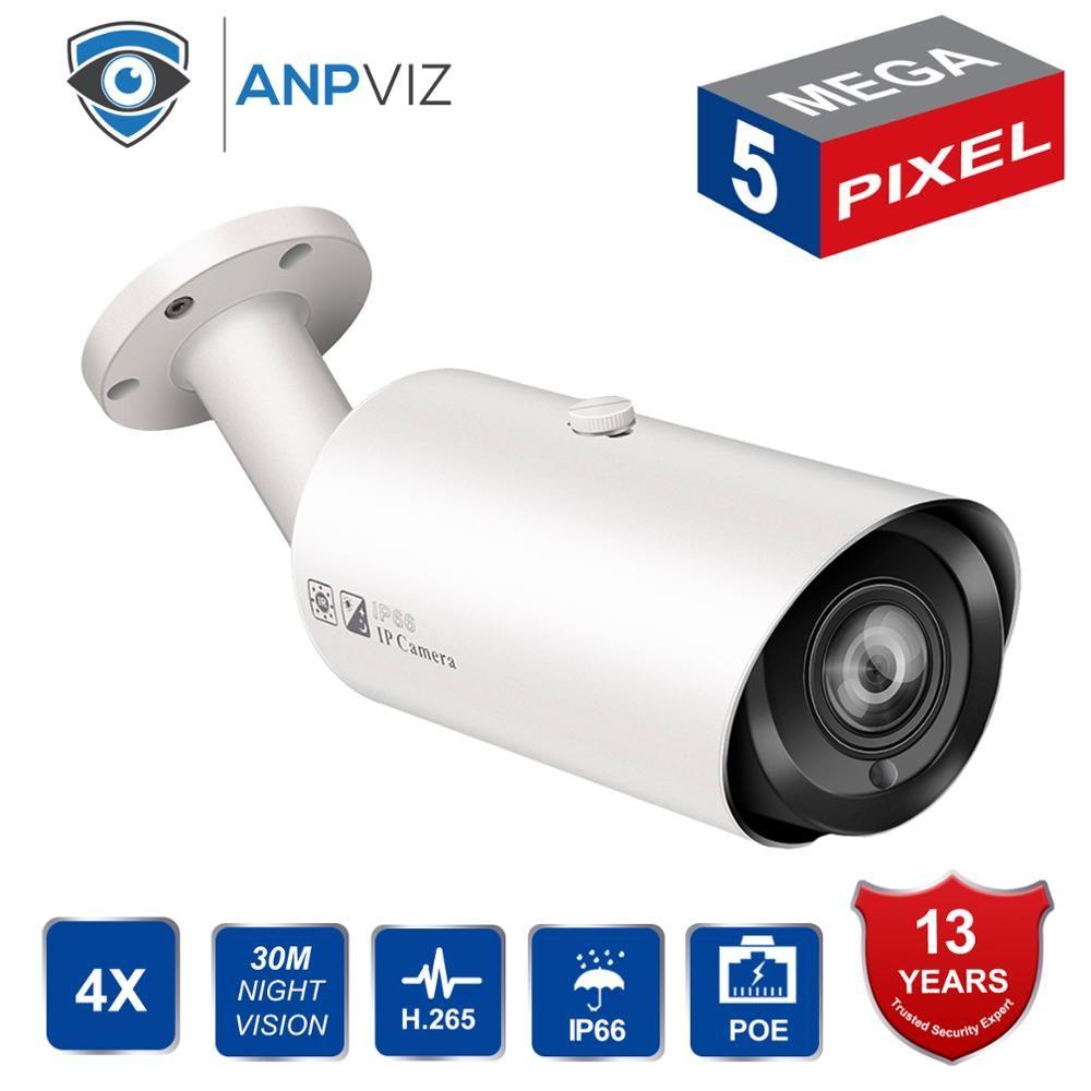 HIK Kompatibel PoE IP Kamera 5MP 4X Optica Zoom Im Freien Wasserdichte Infrarot Nachtsicht Sicherheit Video Überwachung Kamera