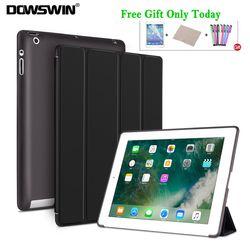 DOWSWIN Case For iPad 2 3 4 Soft Back Cover TPU Leather Case For iPad 4 Flip Smart Cover For iPad 2 Case, For ipad 9.7 2018 Case
