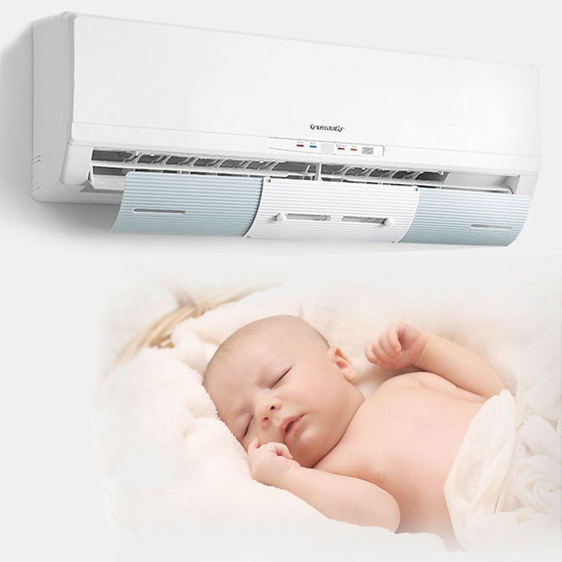 Couvercle de climatiseur réglable pare-brise déflecteur de climatisation écran de déflecteur Guide du vent mois bouclier Anti-vent droit