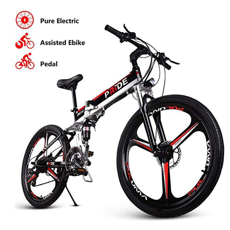 Elektrische bike 26 zoll Aluminium Klapp elektrische Fahrrad 500W Leistungsstarke Mottor 48V12. 5A Batterie 21 Geschwindigkeit Berg ebike Strand fahrrad