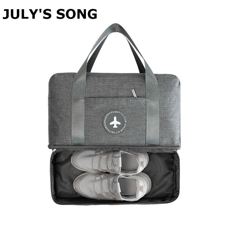 JULY'S SONG sac de voyage Portable Duffle étanche multifonctionnel sec humide séparation sac de rangement voyage Duffle livraison directe