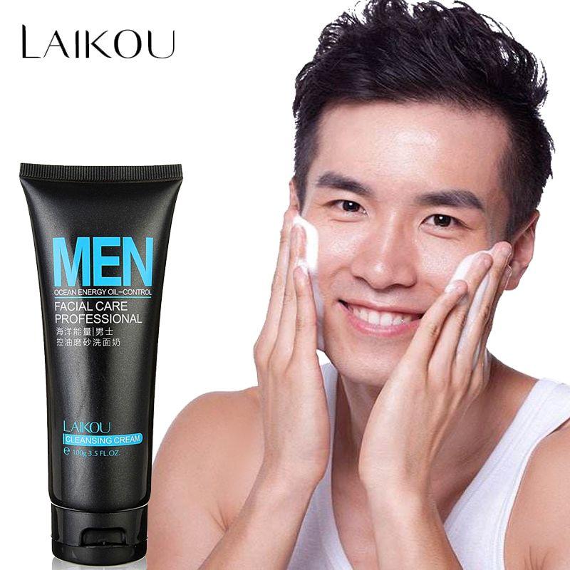 LAIKOU lavage du visage homme produit nettoyant pour le visage gommages pour le visage naturel lavage et nettoyant pour la peau grasse et à tendance acnéique contrôle de l'huile