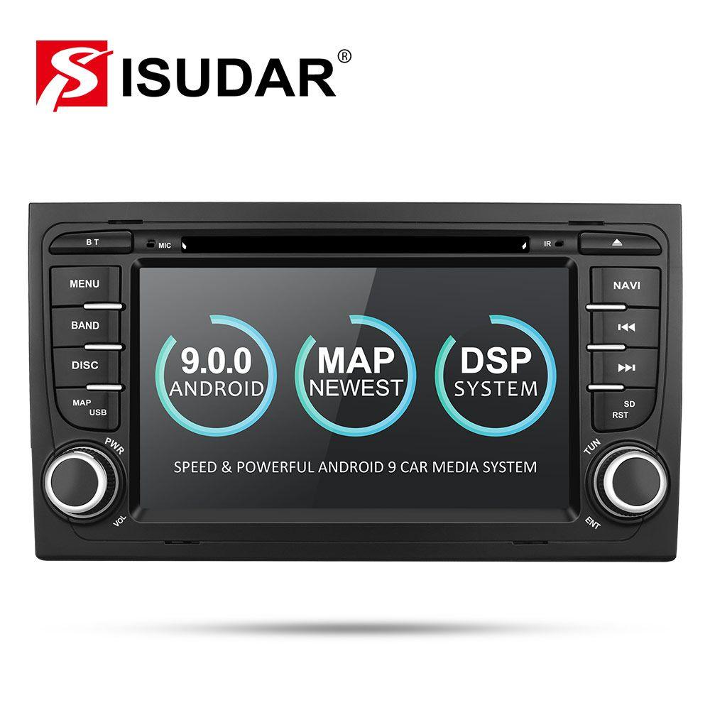 Isudar 2 Din Auto Multimedia Player GPS Android 9 DVD Automotivo Für Audi/A4/S4 2002-2008 Radio quad-Cores RAM 2GB ROM 16GB DSP