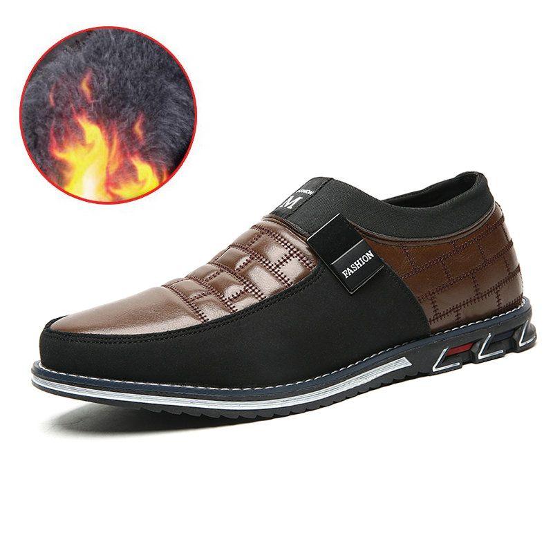 2019 nouvelle grande taille 38-48 Oxfords en cuir hommes chaussures décontracté sans lacet formelle affaires robe de mariée chaussures livraison directe