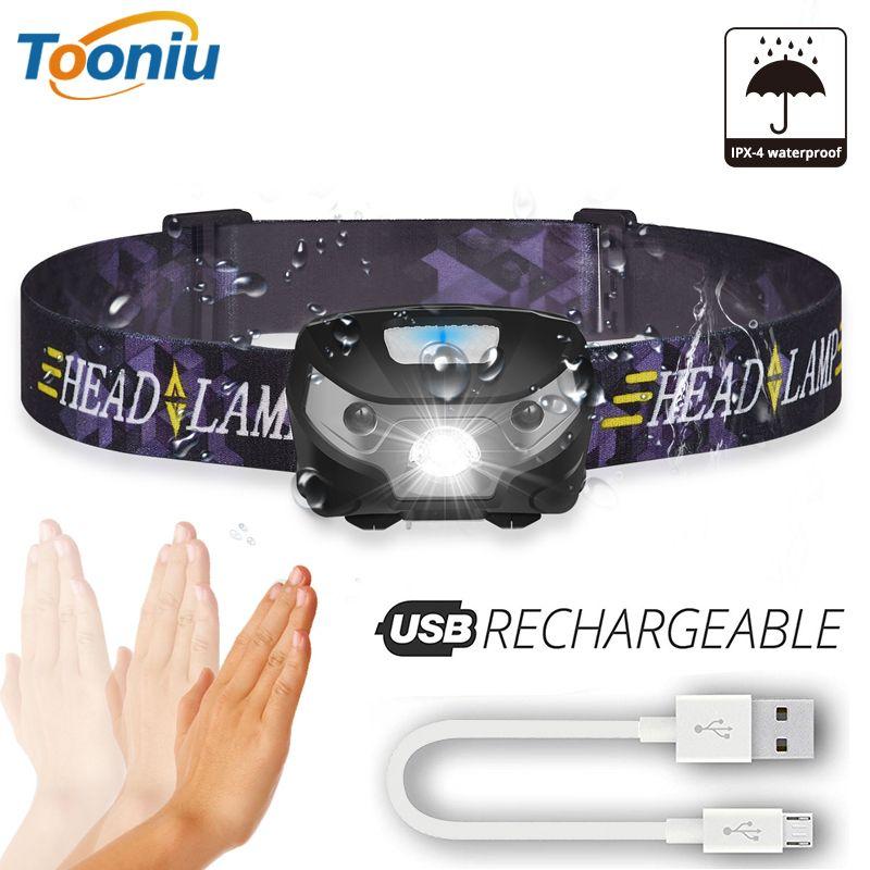 3000LM Mini Rechargeable Corps de la Lampe LED Motion Sensor LED De Vélo Head Light Lampe de Camping En Plein Air lampe de Poche Avec USB