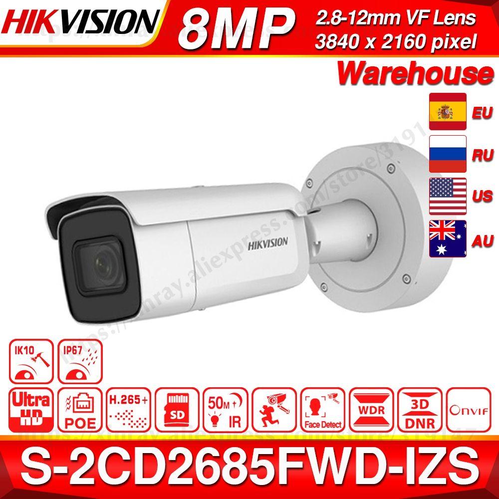 Hikvision Original DS-2CD2685FWD-IZS Kugel Kamera 8MP POE CCTV Kamera 50m IR Bereich IP67 IK10 H.265 + 2,8-12mm Zoom