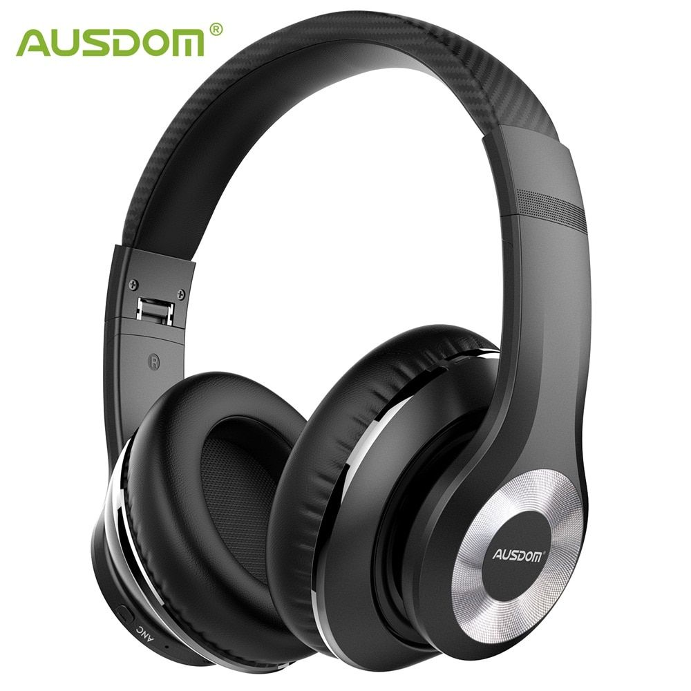 Ausdom ANC10 Active Noise Cancelling Bluetooth Wireless Headphones Foldable 20H Play time Hifi Deep Bass Bluetooth Headset