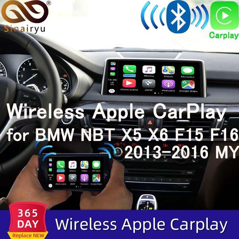 Sinairyu WIFI Drahtlose Apple Carplay für BMW NBT X5 X6 F15 F16 F25 F26 2013-2016 unterstützung iOS/ android Auto/Spiegel Spotify Waze