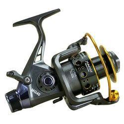 2020 New Fishing Reel Double Brake Front and Rear Drag reels Carp Fishing Feeder Spinning Reel Carp Fishing Tackle Rod Combo