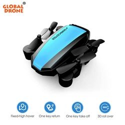 Global Drone Foldable Mini Wifi Drones for Beginner Gifts Toys for Kids RC Helicopter Quadrocopter Pocket Dron VS H36 E61 S9W