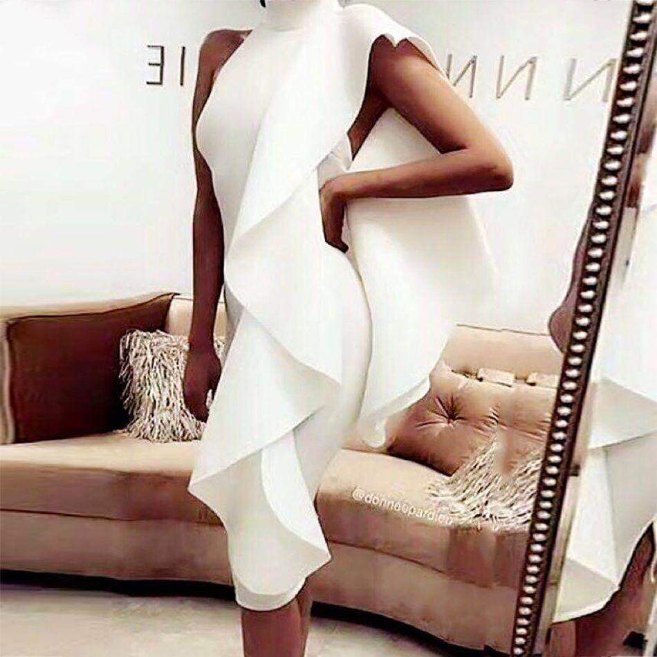 Adyce 2019 nouveau été blanc femmes célébrité robe de soirée Sexy vin rouge sans manches Patchwork volants moulante Club robes Vestidos