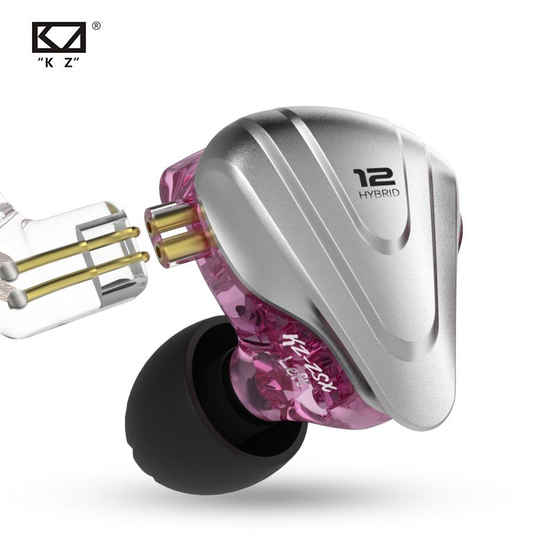 NewKZ ZSX Terminator Metall Headset 5BA + 1DD Hybrid 12 Einheiten HIFI Bass Earbuds In-Ear-Monitor Kopfhörer Noise Cancelling kopfhörer